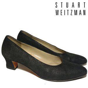 Stuart Weitzman Suede Textured Pumps Sz 9AAAA